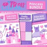 Princess Clipart Plus Digital Papers BUNDLE