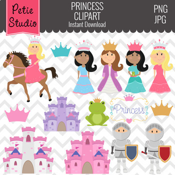 Princess Clipart with Horses and Castles - Kids101