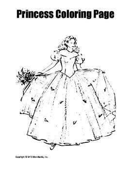 Princess Coloring Page