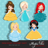 Princess Costume Party Clipart by MUJKA