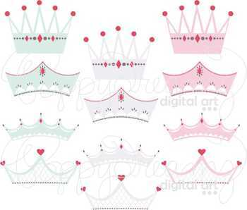 Princess Crowns Clipart by Poppydreamz