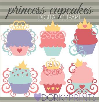 Princess Cupcakes Clip Art