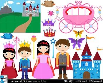 Princess Digital Clip Art Graphics 49 images cod34