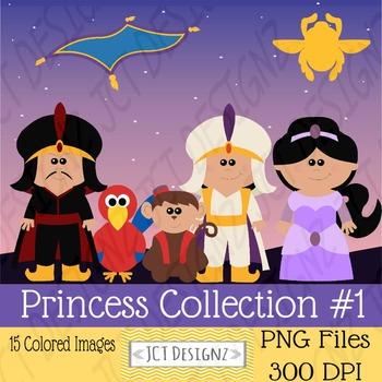 Princess Digital Clipart: Inspired Clipart: Aladdin Clipart: Jasmine Clipart