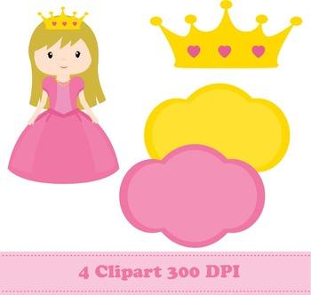 Princess Digital Paper + Clipart
