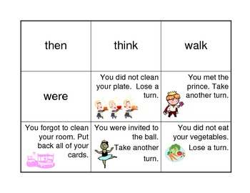 Princess Dolch Sight Word Game First Grade