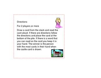 Princess Dolch Sight Word Game Third Grade