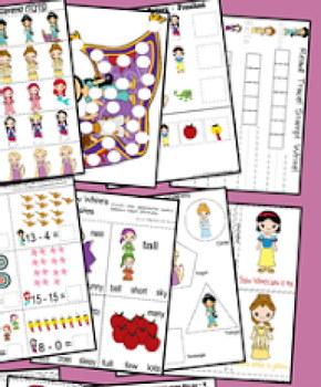 Princess Early Learning Pack (Preschool, Kindergarten, 1st Grade)