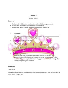 Princess Empowerment--A Self-esteem Group for Girls (8 Full Sessions)