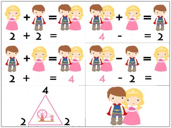Princess Fact Family Numbers 3 AND 4 Games