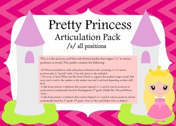 Princess & Fairy Tale Themed Articulation Pack for /S/