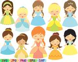 Princess Fairytale Clipart svg Sleeping Beauty snow white cute little PROPS -96s