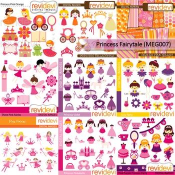 Princess Fairytale  clip art Mega Bundle (9 packs) digital