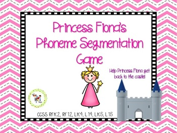 Princess Fiona's Phoneme Segmentation Board Game