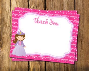 Princess Fairytale Flat Thank You Note Cards