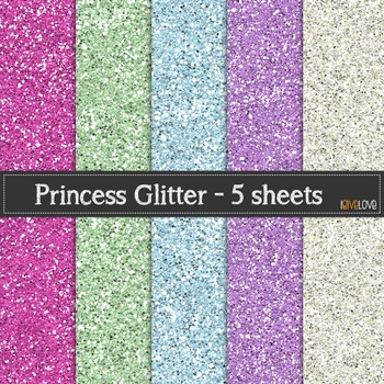 Princess Glitter Paper