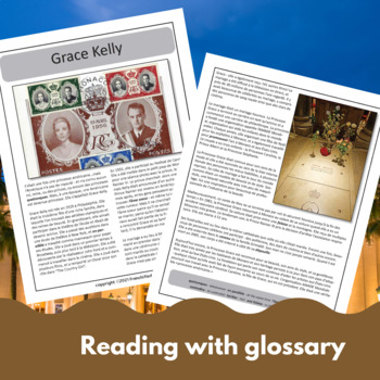 Princess Grace - a reading for intermediate students w/ text-dependent questions