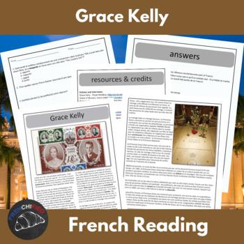 Princess Grace - a reading for intermediate students w/ te