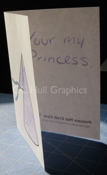 Princess Hat Craft Card PDF