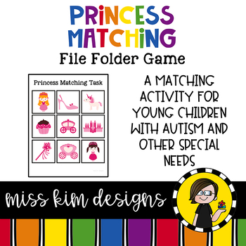 Folder Game: Princess Matching for for Students with Autism & Special Needs
