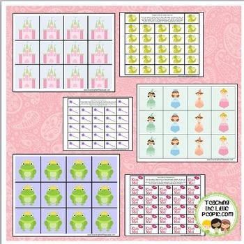 Princess Math/Playdough Mats for Preschool and Kindergarten