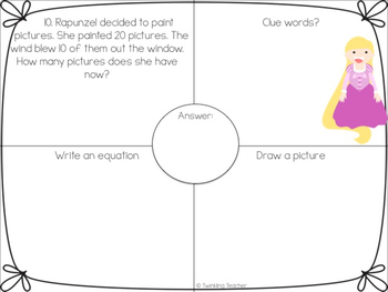 Princess Mini Bundle: One Step Word Problems
