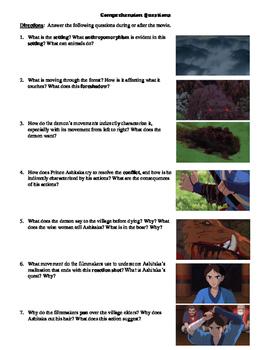 Princess Mononoke Film (1997) Study Guide Movie Packet