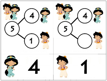 Princess Number Bonds - Bundle 3-10 Fact Families