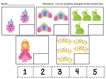 Princess Numeral-Quantity Matching