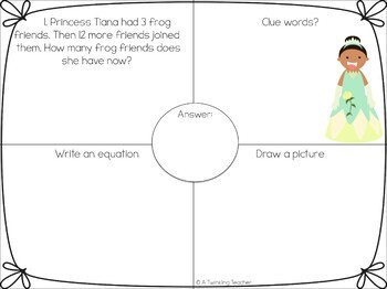Princess One Step Word Problems within 20!