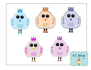 Princess Owl Clip Art Freebie