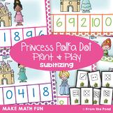 Subitizing - Princess Polka Dot - Math Center Game Activity