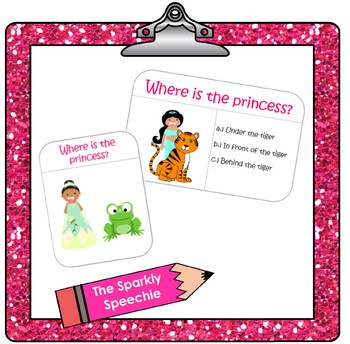 Princess Prepositions Packet with Interactive Prepositions Book!