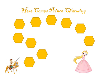 Princess, Prince Charming Motivational Game Boards: 10 or 20 trials: ANY SKILL