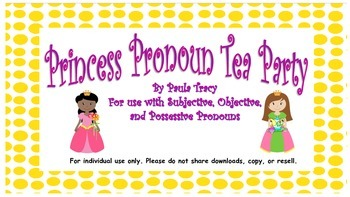 Princess Pronoun Tea Party