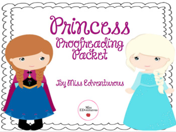 Princess Proofreading Packet