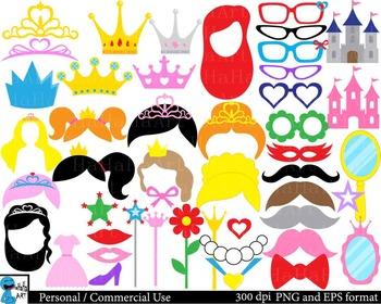 Princess Props Digital Clip Art Personal Commercial Use 260 images cod170