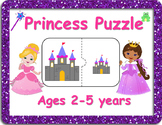 Princess Puzzle for Preschool and Toddlers