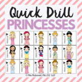 Quick Drill Princess Game {for speech therapy or any skill drill}