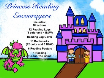 Princess Readers Theme -Reading Logs, Bookmarks & More for
