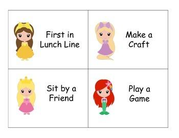Princess Reward Cards