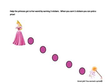Princess Reward sticker chart
