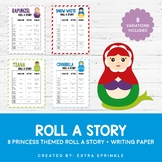 Disney Inspired Princess Roll A Story Sheets & Matching Paper