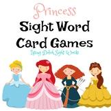Princess Sight Word Card Games