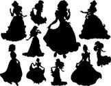 Princess Silhouette Clip Art Disney Princess Silhouette Snow White Cinderella