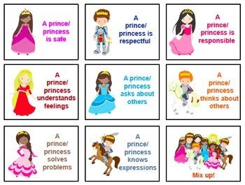 Prince and Princess Social Skills No Print Activities