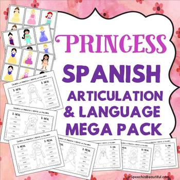 Princess Spanish Articulation and Language MEGA PACK -- NO PREP