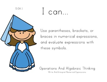 Princess Theme 5th grade math Common Core Posters Fifth Gr