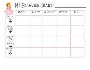 Princess Themed Behavior Chart