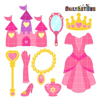 Princess Thing Clip Art - Great for Art Class Projects!